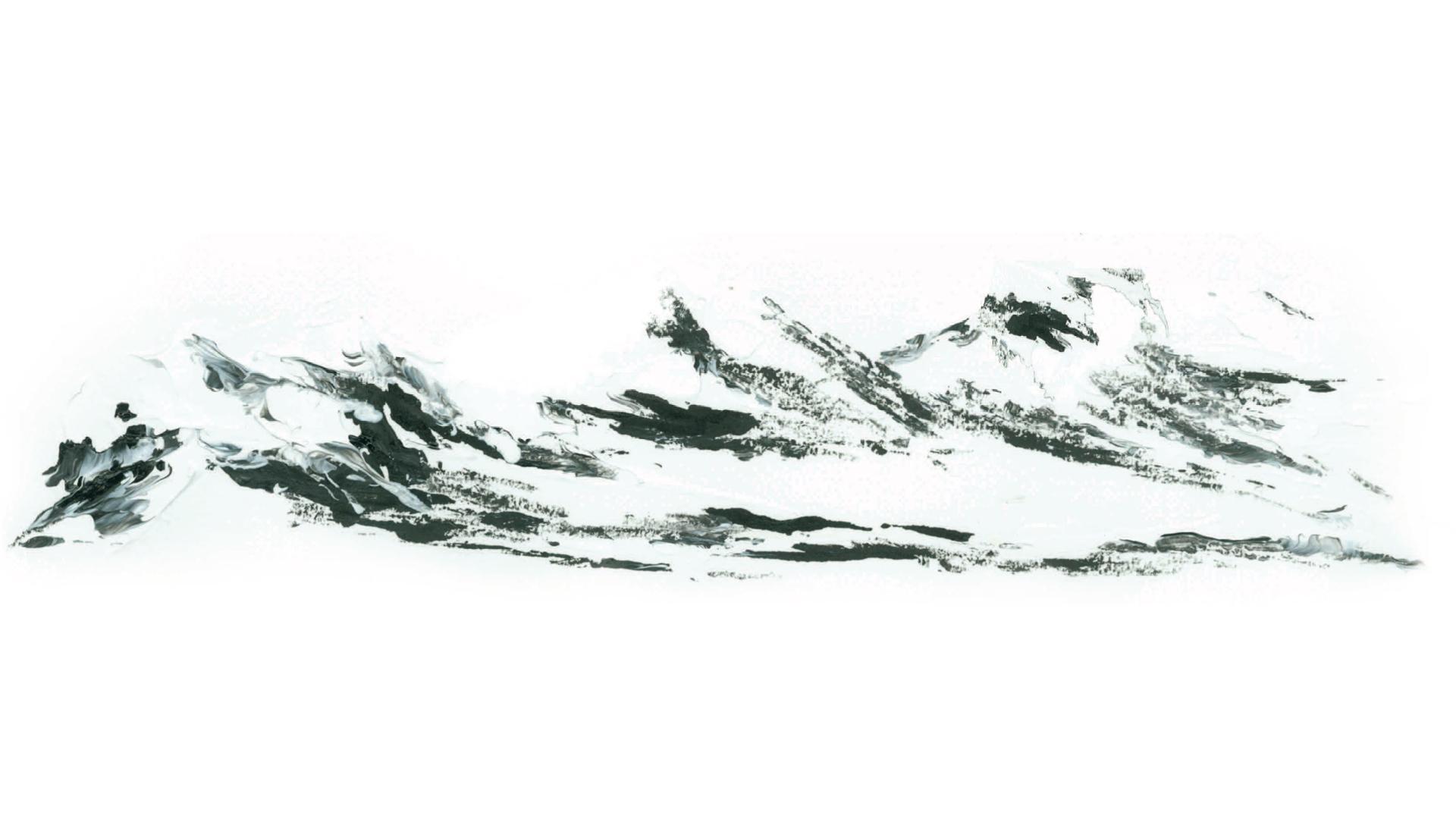 Dessin basalte noir Grand Site Salagou Mourèze Cirque de Mourèze Plateau du Grand Site © G.Bouquet