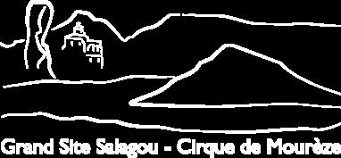 logo Grand Site Salagou blanc