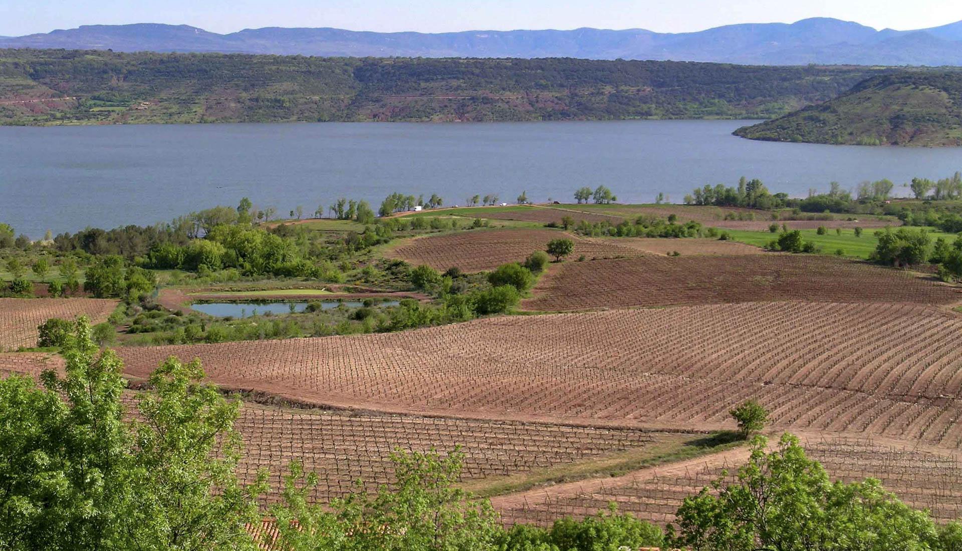 Plaine agricole Lac du Salagou © C.Leydier