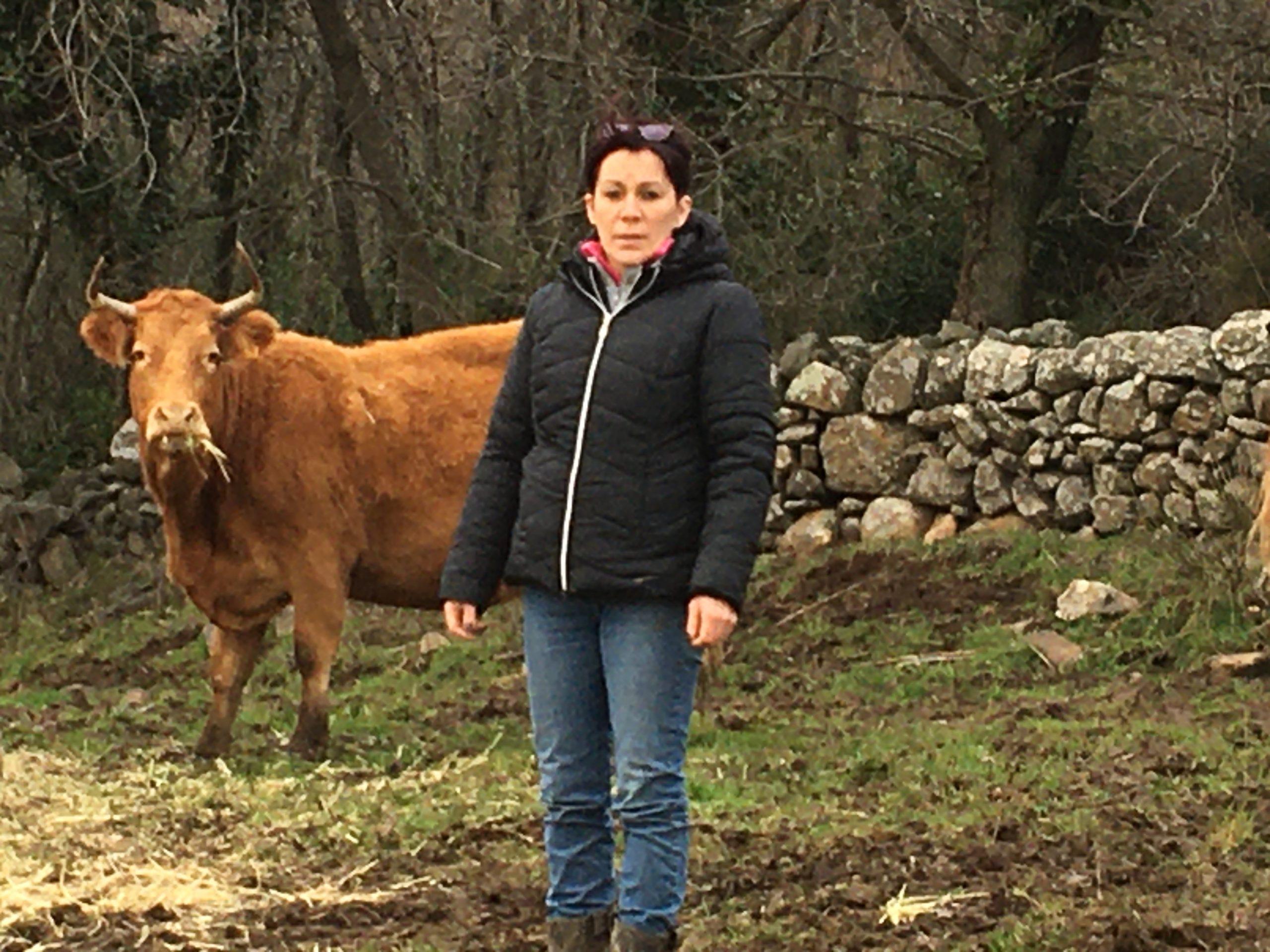 Sylvie Lacoste eleveuse de bovins