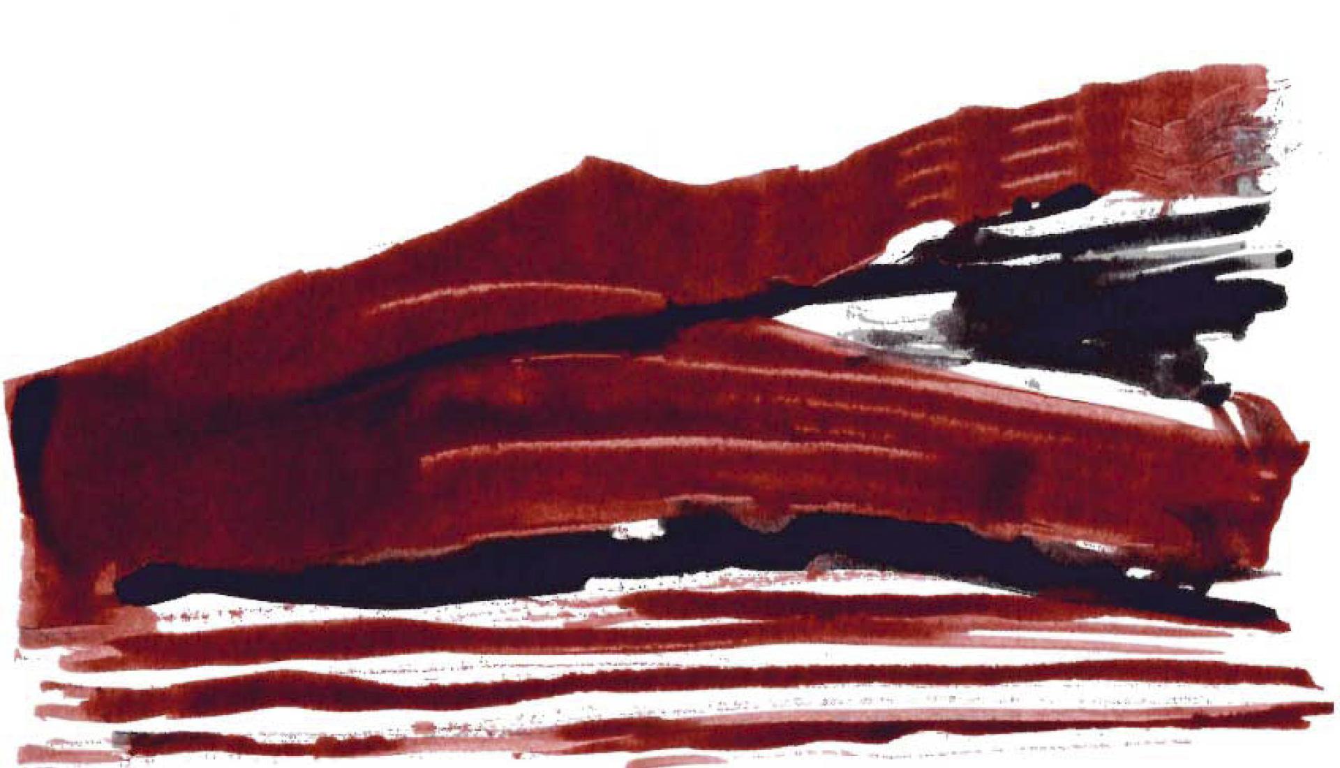 Rouge presqu'île du Salagou © G.Bouquet