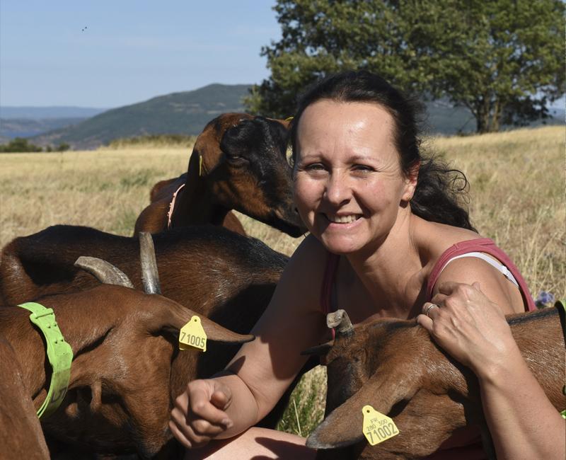 Sylvie Bisognin eleveuse Grand Site Salagou