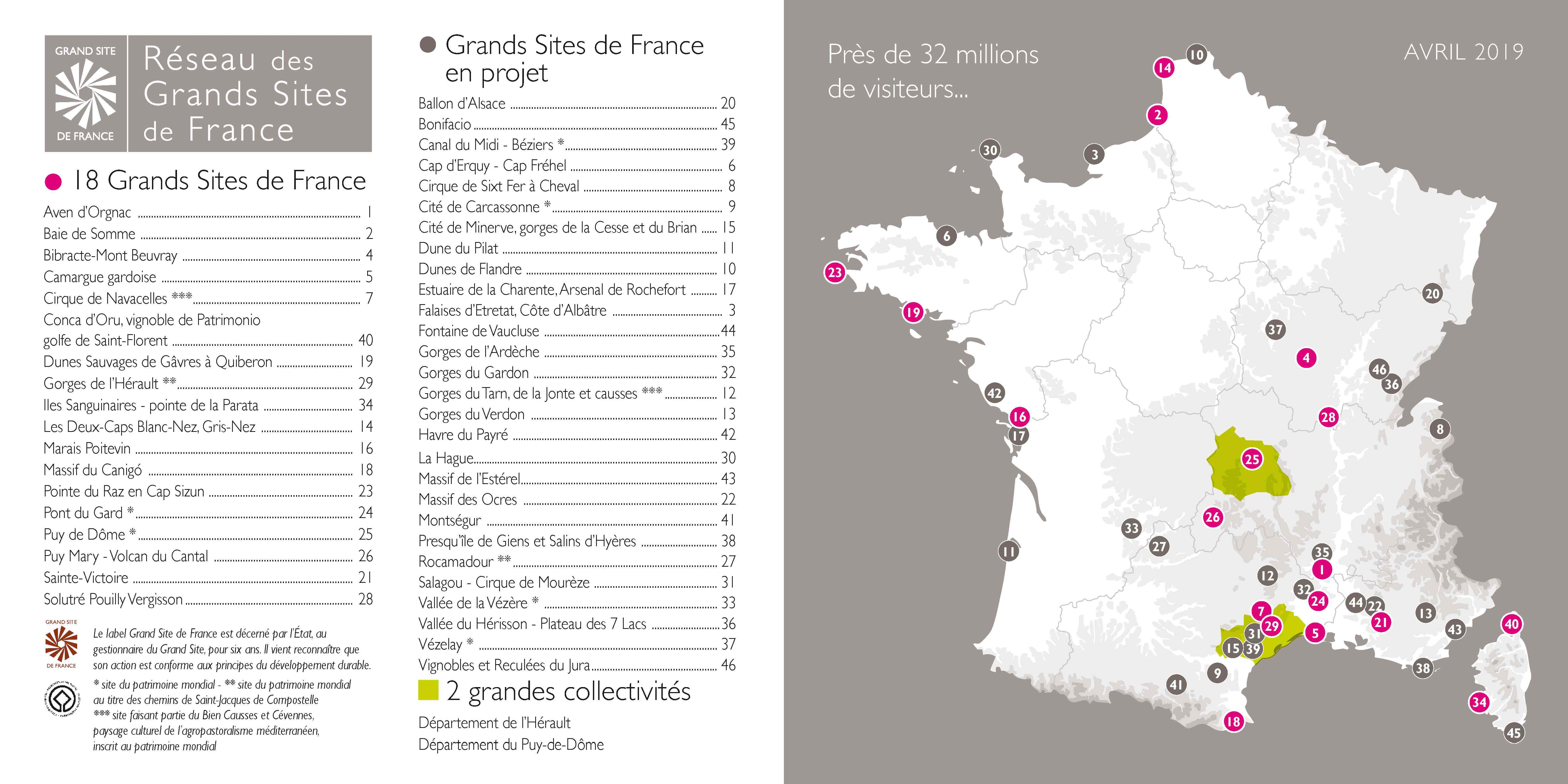 Carte membres Grands Sites de France