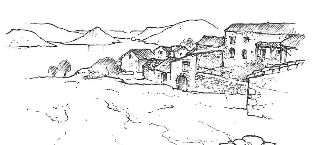 Village de Vailhes dessin © A.Freytet